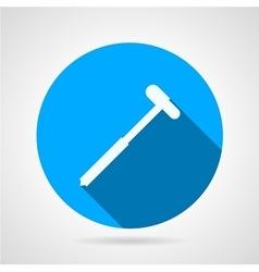 Reflex hammer flat round icon vector image