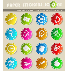 school simply icons vector image