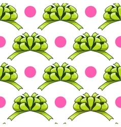 Seamless pattern with cartoon bow vector image