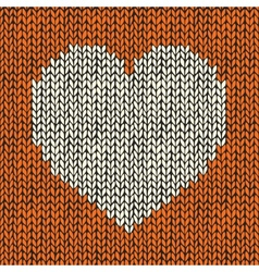 Seamless pattern with knitted heart vector image vector image