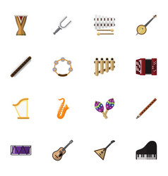 Set of 16 editable melody icons includes symbols vector