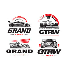 sport cars set on white background vector image