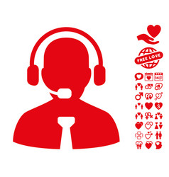 Support chat icon with dating bonus vector