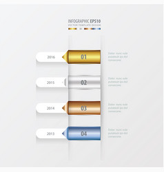 Timeline template gold bronze silver blue color vector