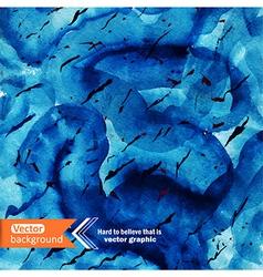 Watercolor ocean background stain wa vector