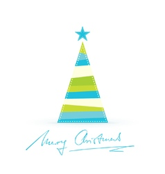 Modern stylized christmas tree handwritten vector
