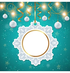 Christmas banner with white decorations vector