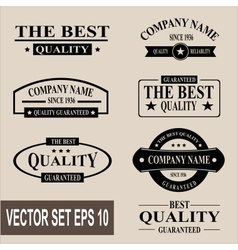 set of vintage quality garanteed labels vector image