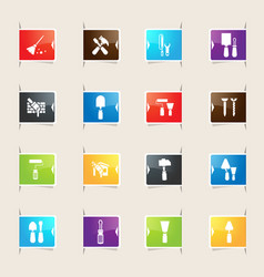 Work tools bookmark icons vector