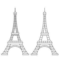 Eiffel tower line icon vector