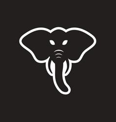 stylish black and white icon indian elephant vector image