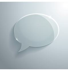 Abstract glass speech bubble vector