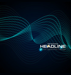 Shiny abstract futuristic hi-tech dotted line vector
