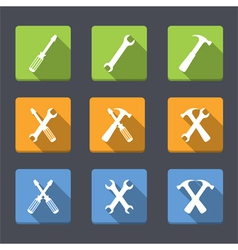Flat Tools Icons vector image