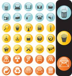 web buttons glossy vector image