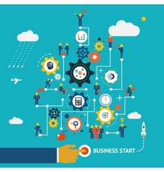 Business start infographics vector