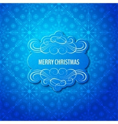 Background with christmas label greeting card vector