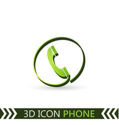 3d icon telephone vector image