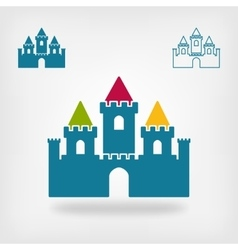 Old castle with towers symbol vector