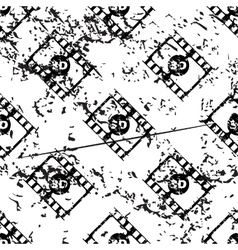 3d movie pattern grunge monochrome vector