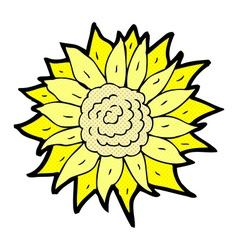 Comic cartoon sunflower vector