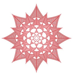 Indian culture inspired flower shape made out of vector