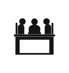 Job interview icon simple style vector