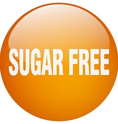 Sugar free orange round gel isolated push button vector