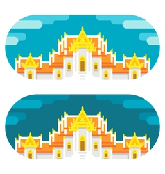Flat design thai temple vector