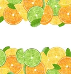 Abstract Frame with Sliced Oranges vector image