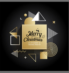 abstract meryy christmas gold geometric pattern vector image vector image