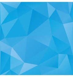 Abstract triangular background blue color vector image