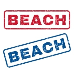 Beach rubber stamps vector