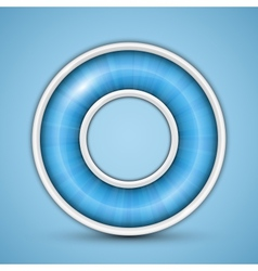 Blue circular progress bar vector image