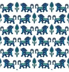 Blue horses vector