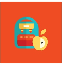blue school backpack vector image