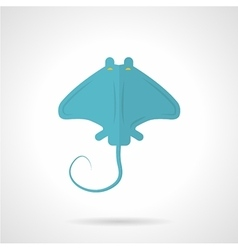 Blue stingray flat icon vector image
