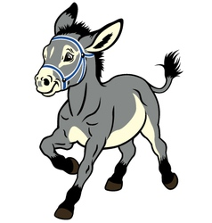 cartoon donkey vector image vector image