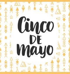 cinco de mayo poster vector image vector image