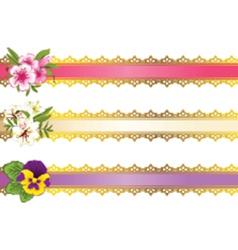 Decorative headers vector image