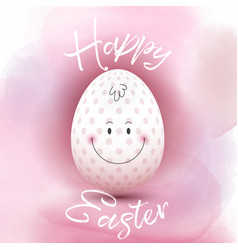easter egg on a watercolour background vector image