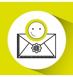 Emoticon happy email concept vector