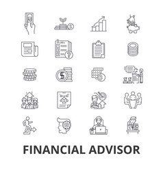 Financial advisor planning advisor planner vector