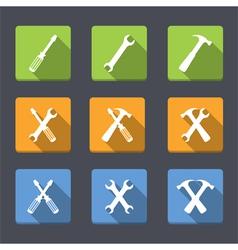 Flat tools icons vector