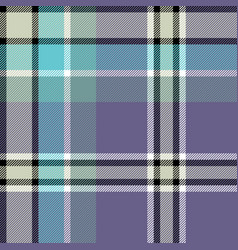 gray blue check fabric texture seamless pattern vector image vector image
