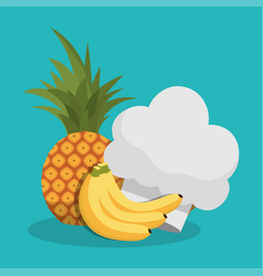 Healthy food menu cooking kitchen vector