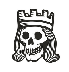 king skull vector image