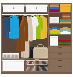 Men cloths wardrobe vector image