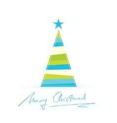 Modern stylized christmas tree handwritten vector