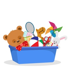 Of A Toy Box vector image vector image